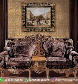 Sofa Ruang Tamu Jati Mewah Kode 128