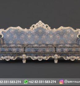 Sofa Ruang Tamu Jati Mewah Kode 129