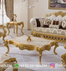 Sofa Ruang Tamu Jati Mewah Kode 132