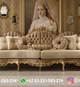 Sofa Ruang Tamu Jati Mewah Kode 136