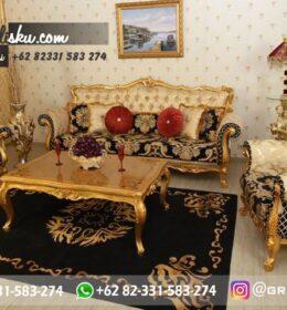 Sofa Ruang Tamu Jati Mewah Kode 137