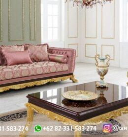 Sofa Ruang Tamu Jati Mewah Kode 143