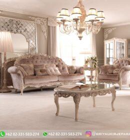 Sofa Ruang Tamu Jati Mewah Kode 144
