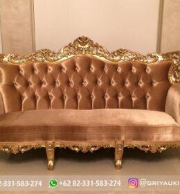 Sofa Ruang Tamu Jati Mewah Kode 145