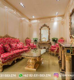 Sofa Ruang Tamu Jati Mewah Kode 120