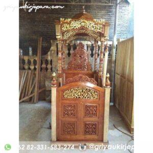 mimbar masjid ukiran jepara 5 300x300 - Mimbar Jati Ukiran Jepara Kode 054