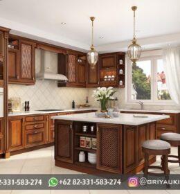 Dapur Kitchen Set Jati Griya Ukir Jepara
