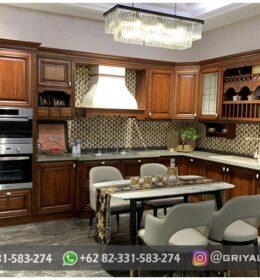 Desain Kitchen Set Ukiran Minimalis Jepara