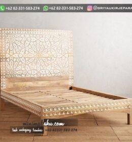 Desain Tempat Tidur Kayu Jati Mebel Jepara
