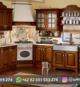 Kitchen Dapur Ukiran Murah