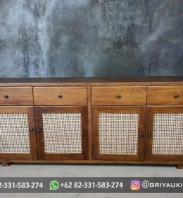 Meja TV Kayu Jati Murah