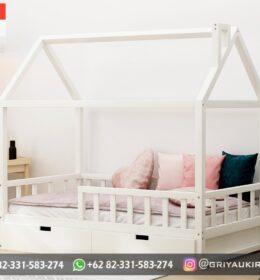 Desain Tempat Tidur Anak-Anak Jati Minimalis