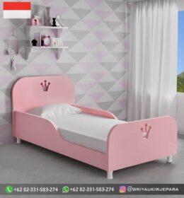 Desain Tempat Tidur Anak Jati Simpel