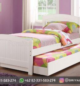 Desain Tempat Tidur Anak Kayu Jati Model Minimalis