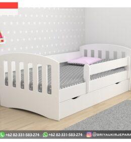 Model Tempat Tidur Anak-Anak Jati Minimalis